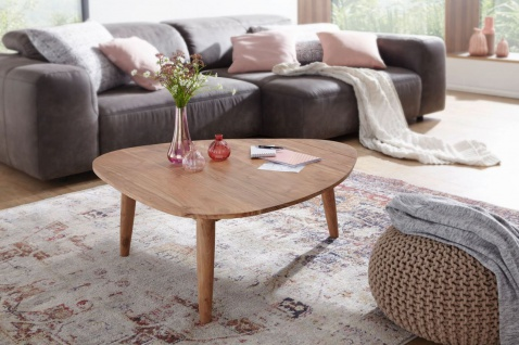 Couchtisch Massivholztisch Kaffeetisch BUANA 94x96x40 cm Holz Akazie