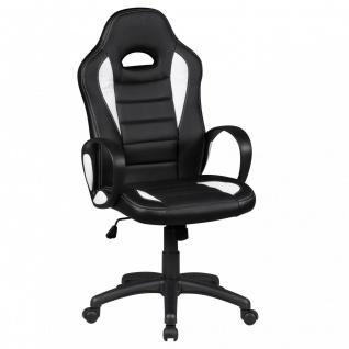 Drehstuhl Bürostuhl Chefsessel FAST - Schwarz / Weiss