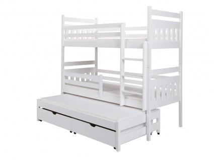 Etagenbett Bett BELKA XL Kiefer Massiv Komplettset