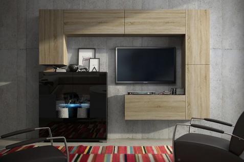 Mediawand Wohnwand 7 tlg - Konzept 8 -Sonoma matt mit LED-Beleuchtung