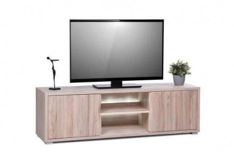 TV Board Lowboard - Liva - Sanremo Sand inkl. Beleuchtung