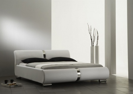 Polsterbett Bett Doppelbett DAKAR Komplettset 180x200 cm Weiss
