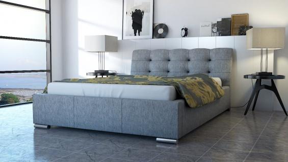 Polsterbett Bett Doppelbett ERICO 140x200cm inkl.Bettkasten