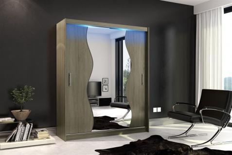 Schiebetürenschrank Schrank DOLM 10 Trüffel matt 180x213 cm inkl.LED