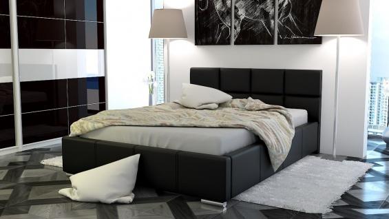 Polsterbett Bett Doppelbett SILVIO 140x200cm inkl.Bettkasten