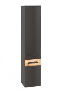 Badezimmer Hängeschrank 170x35x33cm LAXY Grau Hochglanz