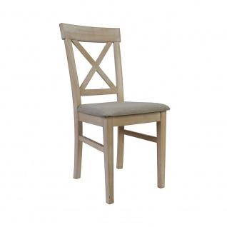 Esszimmerstuhl Stuhl 2er Set ROMEO Massivholz Buche