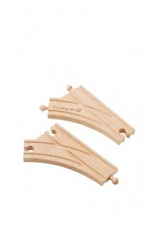Holzspielzeug - Eisenbahn Schienen Set. Weiche