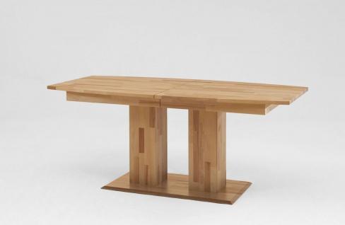 Esstisch Funktionstisch BARK Tisch 160/250 x 90 Wildeiche massiv