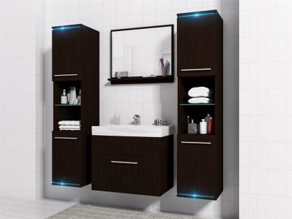 Badmöbel Set 5-Tlg Wenge matt TOPLINE inkl.Waschtisch inkl.LED - Vorschau 2