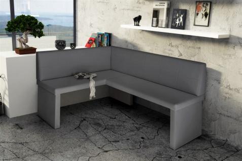 eckbank bank k chenbank 196 x 142 cm robin xl r kunstleder grau kaufen bei sylwia lesniewska. Black Bedroom Furniture Sets. Home Design Ideas