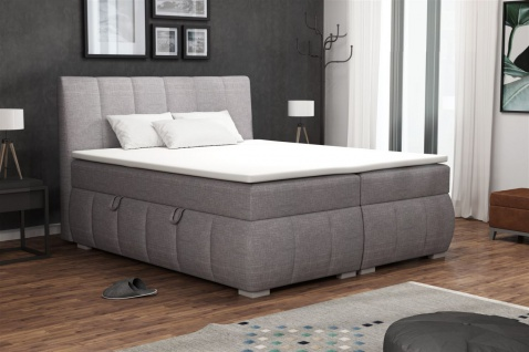 Boxspringbett Schlafzimmerbett VINCENZA 100x200cm inkl.Bettkasten