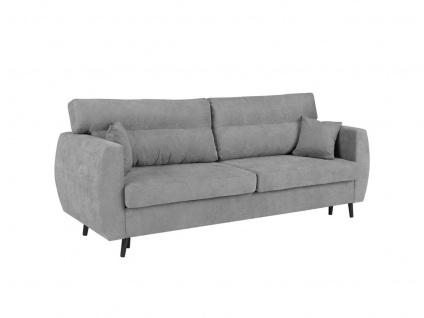 Sofa 3-Sitzer ANABEL mit Schlaffunktion Grau