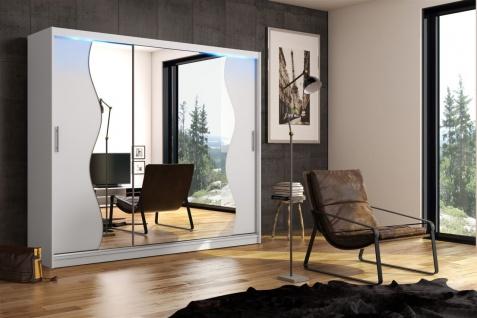 Schiebetürenschrank Schrank DOLM 05 Weiss matt 250x218 cm inkl.LED - Vorschau 1