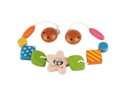 Holzspielzeug - Kinderwagen-Kette Sternchen