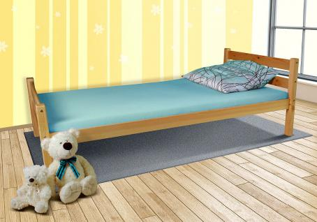"Tagesbett-Bett "" Helga"" Kiefer Massiv/ Natur Lackiert 90x200 cm ohne Lattenrost"