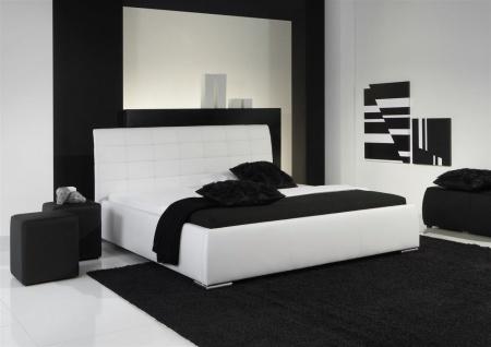 Polsterbett Bett Doppelbett Tagesbett - VERMONT - 180x200 cm Weiss - Vorschau 1