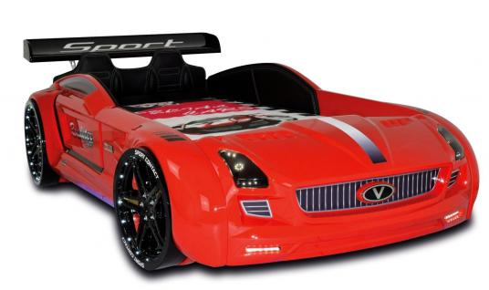Autobett Kinderbett - Knight Rider XL - Rot inkl.Beleuchtung