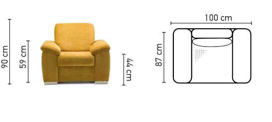Sessel Polstersessel VINZENT Polyesterstoff Gelb - Vorschau 2