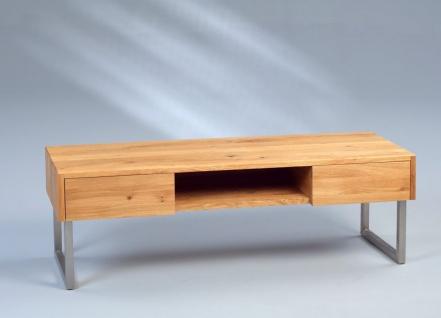 Lowboard TV Schrank - Thea - 120 x 40 cm Wildeiche massiv geölt