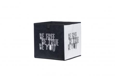 Faltbox Box - Delta -32 x 32 cm / 3er Set - Black und White