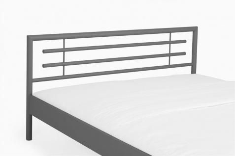 Metallbett Doppelbett Bett STEEL Nr.01 Silber Lackiert 180x200 cm - Vorschau 5