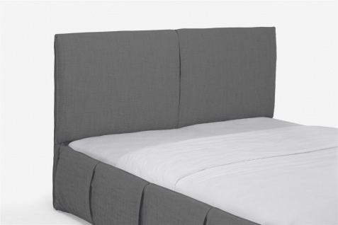 Polsterbett Doppelbett AGIS Stoff Grau 180x220cm - Vorschau 5