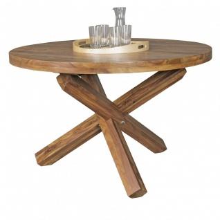 Esszimmertisch Tisch LANDO 120x120 cm Landhaus-Stil Sheesham Voll-Holz