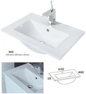 Badmöbel Set 5-Tlg Weiss Badezimmerset - Liva-inkl.Waschtisch inkl.LED - Vorschau 3