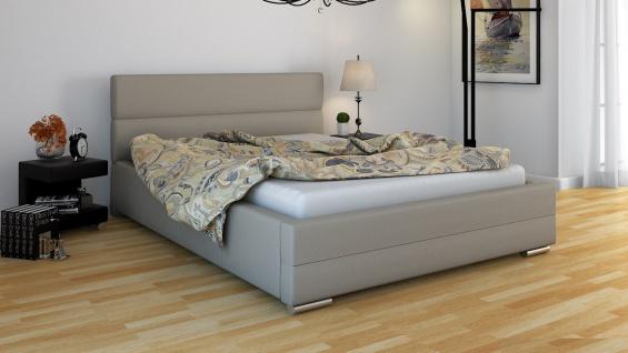 Polsterbett Bett Doppelbett PIERO 140x200cm inkl.Bettkasten