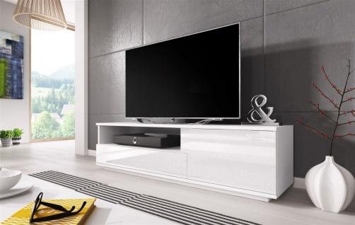 TV Board Lowboard ZUMA Weiss Hochglanz 138cm