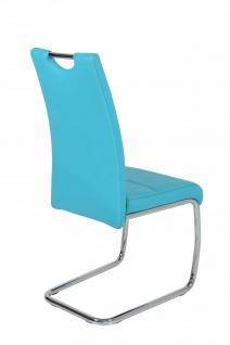 Esszimmerstühle Stuhl Freischwinger 4er Set ELENI Petrol - Vorschau 2