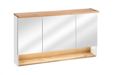 Badmöbel Set 3-tlg Badezimmerset VARESE Weiss inkl.Waschtisch 120 cm - Vorschau 2