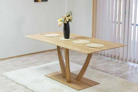 Esstisch Tisch STAR Wildeiche vollmassiv Echtholz 140 x 90 cm