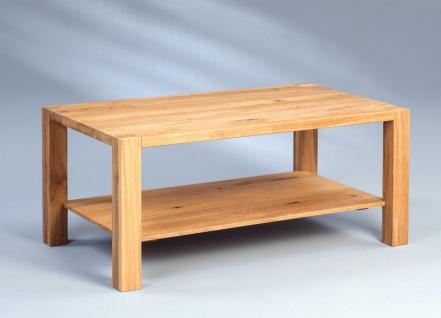 Couchtische Beistelltisch - Stilla 2 -Wildeiche Massiv 96x56 cm