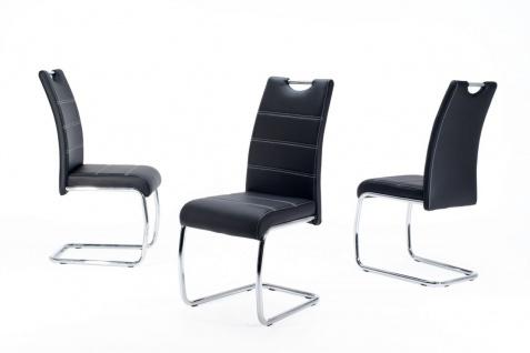 Esszimmerstühle Stuhl Freischwinger 2er Set ELENI Schwarz