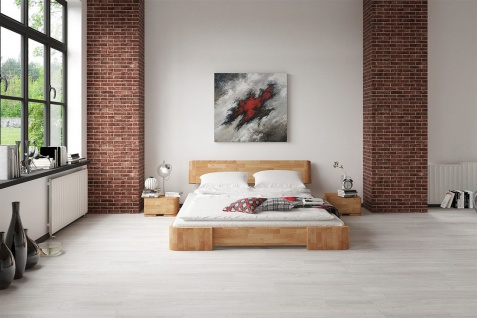 Massivholzbett Bett Schlafzimmerbett MESA Eiche massiv 160x200 cm - Vorschau 2