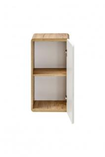 Badmöbel Set 7-tlg Badezimmerset FERMO Weiss HGL ohne Waschtisch - Vorschau 4
