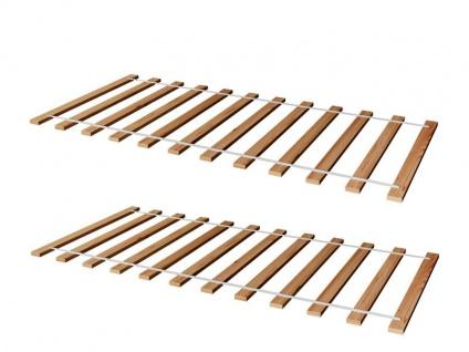 2ER SET Rollrost Lattenrost Rolllattenrost 80 x 200 cm Massivholz