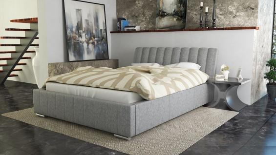 Polsterbett Bett Doppelbett IVANO 140x200cm inkl.Bettkasten
