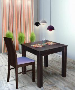 Esstisch Tisch Bistrotisch - Dallas- 70x70 cm Kiefer Massivholz Wenge Lackiert