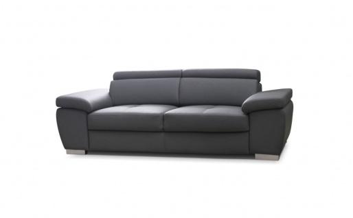 Sofa 2-Sitzer ROXI Kunstleder Grau 185x78x105 cm