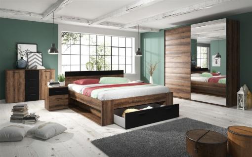 Schlafzimmer Set 5 tlg ASKJA inkl.Doppelbett 180cm und Schrank 221cm