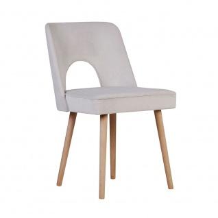 Polsterstuhl Stuhl 2er Set HEDDA Massivholz Buche
