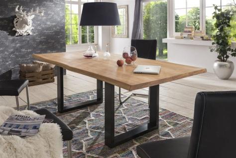 Esstisch Tisch KENAN Wildeiche massiv. 220x100cm Kufengestell