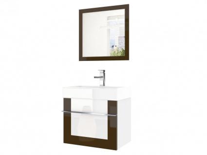 Badmöbel Set 2-tlg DAWINO Set.6 Kastanien-Weiss inkl.Waschtisch 50 cm