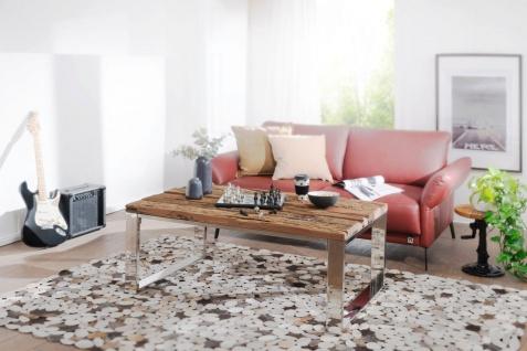 Couchtisch Sofatisch NAPO 120x70x50 cm Materialmix Massivholz & Metall