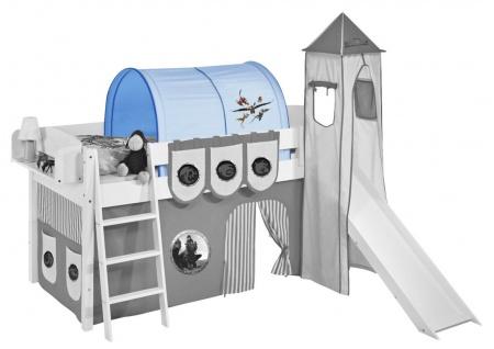 Tunnel Dragons Blau- für Hochbett. Spielbett und Etagenbett