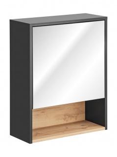 Badezimmer Spiegelschrank BURBON 75x60cm Graphit matt