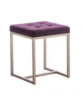Sitzhocker - BRIT - Schminkhocker Hocker Sessel Stoff Lila 40x40 cm